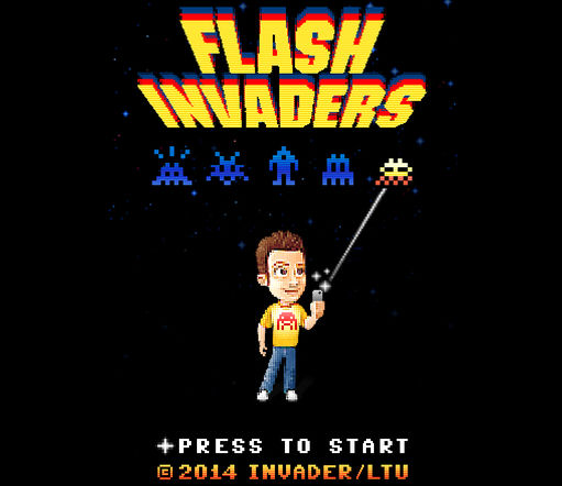 l'application Flash Invaders